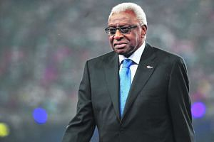 Lamine Diack at the closing ceremony of the Beijing 2015 IAAF World Championships.