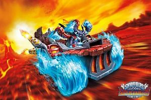 The focus in the latest Skylanders game is on additional toy vehicles. Players must race through obstacle courses, but without a submersible or an airplane, the seas and skies are closed off to you. Still, overall, gameplay has not changed much.