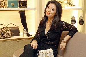 Former Hong Kong actress Cherie Chung attending a party in Singapore for luxury brand Jimmy Choo on Nov 4.