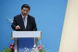 Chinese President Xi Jinping speaking at the NUS Yong Siew Toh Conservatory of Music on Saturday (Nov 7).