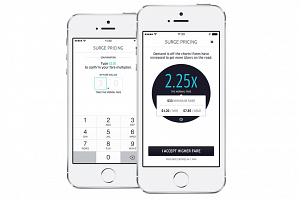 Uber passengers have to go through a multi-step confirmation when surge pricing goes beyond 2 times, where the rider has to type in the multiplier to accept the higher fare.