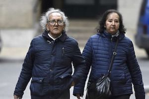 Aravindan Balakrishnan (left) arriving at Southwark Crown Court in London on Nov 11, 2015.