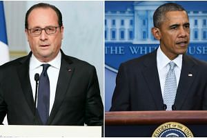 French President Francois Hollande (left) and US President Barack Obama.