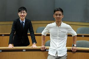 Mr Amos Soo (left) and Mr Charlie Thang are both year-two students at Singapore Management University's Lee Kong Chian School of Business.