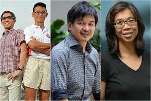(From left) Lim Nghee Huat, Yong Yuen Cheng , Ben Cheong and  Wong Li Wai.