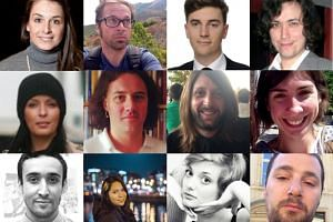 Photographs of 12 of the Paris attacks victims.