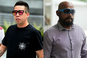 Bike shop owner Eric Khoo Shui Yan (left) and project manager Zulkifli Awab allegedly organised eight editions of the illegal bicycle race.