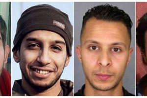 Alleged mastermind Abdelhamid Abaaoud (left) and a suspect on the run, Salah Abdeslam.