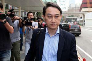 CHC's former fund manager Chew Eng Han arriving at the State Courts on Oct 21.