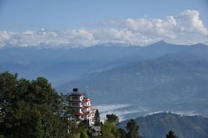 A view of the Himalayan range in Nagarkot, where the group went for rest and relaxation after the week-long service trip.