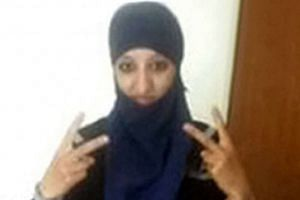 Hasna Aitboulahcen (above) did not die in a suicide bombing, a police source said.