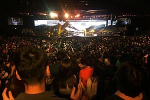 Service at City Harvest Church on Nov 21, 2015.