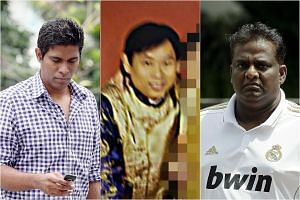 (From left) Notorious Singaporean match-fixers Wilson Raj Perumal, Dan Tan Seet Eng and Selvarajan Letchuman.