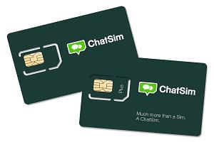 A ChatSim is a SIM with a number from Estonia, and it comes bundled with data credits.
