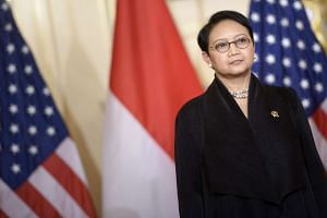 Indonesian Foreign Minister Retno Marsudi at a meeting on Sept 21, 2015, in Washington, DC.