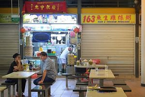 Raw fish dishes are under the spotlight again after salesman Sim Tharn Chun, 52, was hospitalised last week after eating a raw fish dish at 163 Fish and Chicken Porridge stall (above) in Tiong Bahru hawker centre. He remains in critical condition in