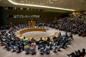 "A UN Security Council meeting in New York last month. ""Our foreign policy is a balance between realism and idealism,"" said PM Lee. ""We know we have to take the world as it is and not as we wish it to be. But we believe that we can and must defend our"