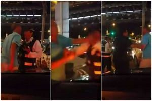 The enforcement officer caught on video fighting with another man on Nov 27, 2015 has been arrested.