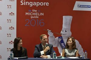 (From left) Ms Melissa Ow, Mr Michael Ellis, and Ms Michelle Ling, at the press conference to announce Singapore's Michelin Guide which will be launched in 2016.