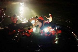 Passengers started to panic after water began entering the life rafts. They were later helped onto smaller bumboats by local villagers and taken back to Batam.