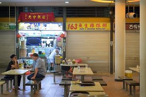 Food stalls at Tiong Bahru Market.