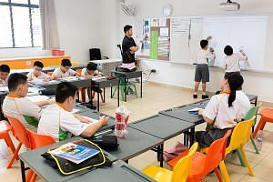 Frontier Primary School pupils (above) at a maths class, part of a pilot project under the CDAC's coaching programme.