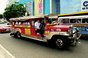 A jeepney is essentially a vehicle made to look like a gaudy, stretched version of the military jeeps the Americans used in World War II. Passengers sit on two cushioned benches on both sides of what basically is a truck bed, usually 10 on each side.