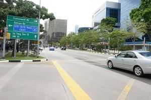 An eight-year-old boy was hit by a car at Eu Tong Sen Street on the evening of Dec 9, 2015.