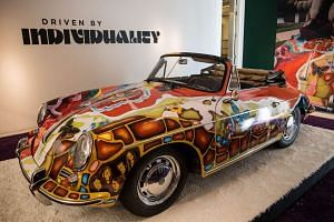 The custom-painted 356C 1600 Cabriolet model dates back to 1964.