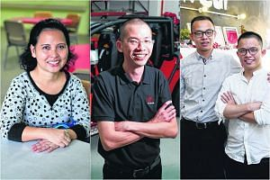 (From left) Madam Noriza A. Mansor, Mr Peter Ho, Mr Joshua Khoo and Mr Dylan Ong.