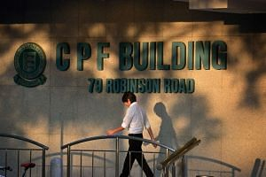 The CPF building at Robinson Road.