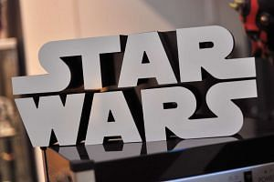 A Star Wars logo sign inside Rancho Obi-Wan, the world's largest private collection of Star Wars memorabilia.