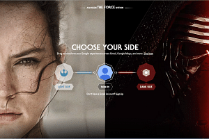 Change your Google experience with Star Wars light and dark side themes.