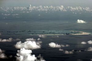 Mischief Reef in the Spratly Islands in the South China Sea, west of Palawan, Philippines, seen in this aerial file photo.