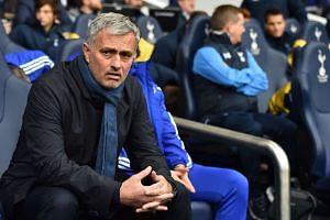 Chelsea manager Jose Mourinho at a match against Tottenham Hotspur at White Hart Lane, north London, on Nov 29.