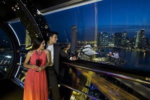 Go on board the Singapore Flyer for a 360-degree view of fireworks on New Year's Eve.
