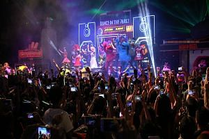 Last year's New Year's Eve countdown party at Universal Studios Singapore.