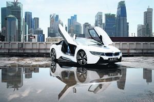 If you charge the BMW i8's lithium battery pack often, you will be able to cover 100km on just 2.1 litres of petrol.