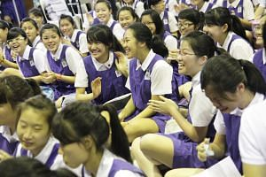 The new Eunoia JC will be taking students from CHIJ St Nicholas Girls' School (pictured), Catholic High School and Singapore Chinese Girls' School.