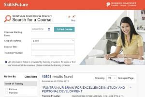 There are currently 10,801 courses listed on the SkillsFuture website.