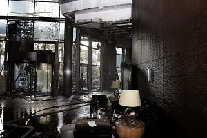 The Dubai authorities are investigating the cause of the fire at The Address Downtown. Its owner says the hotel had been built to the highest quality standards and followed world best practice. The damaged interior of the 63-storey The Address Downto