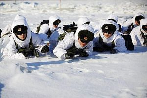 Soldiers during an exercise in Heihe in Heilongjiang province. Some observers say the military restructuring is aimed at modernising the PLA and improving its efficiency in various battle scenarios.