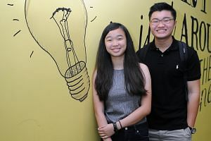 Students Samantha Yeo and Nuovo Tan, both 16, attended Ngee Ann Poly's career counselling workshop last Thursday and found it useful. The poly conducts the Find Your Dream Course workshop regularly, to help school leavers understand what motivates th