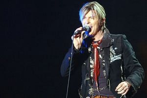 British rocker David Bowie performing at his concert at the Singapore Indoor Stadium on March 4, 2004.
