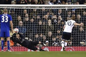 Tottenham's Harry Kane scores their second goal with a penalty.