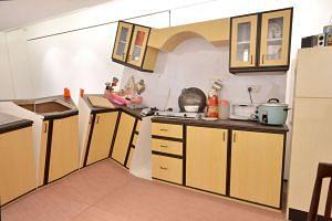 Vertical Submarine's sliced-up kitchen.