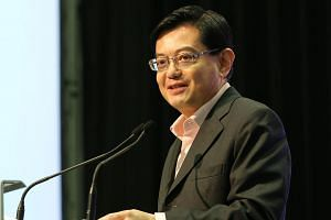 Minister for Finance Heng Swee Keat speaks at the Singapore Business Federation's Semi-Centennial Leadership Conference at Suntec City Convention Centre on Nov 4, 2015.