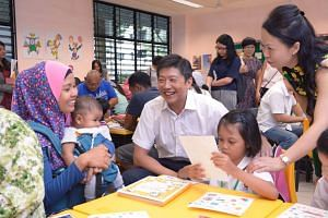 Acting Minister for Education (Schools) Ng Chee Meng visits Ahmad Ibrahim Primary School on Jan 4, 2016.