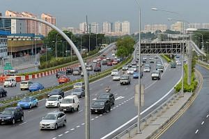 The North-South Expressway was expected to ease congestion on the CTE, seen here in this Dec 3, 2011, photograph.
