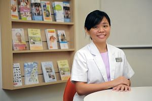 Ms Lee's job involves helping patients to obtain financial assistance and making care arrangements for them after discharge.